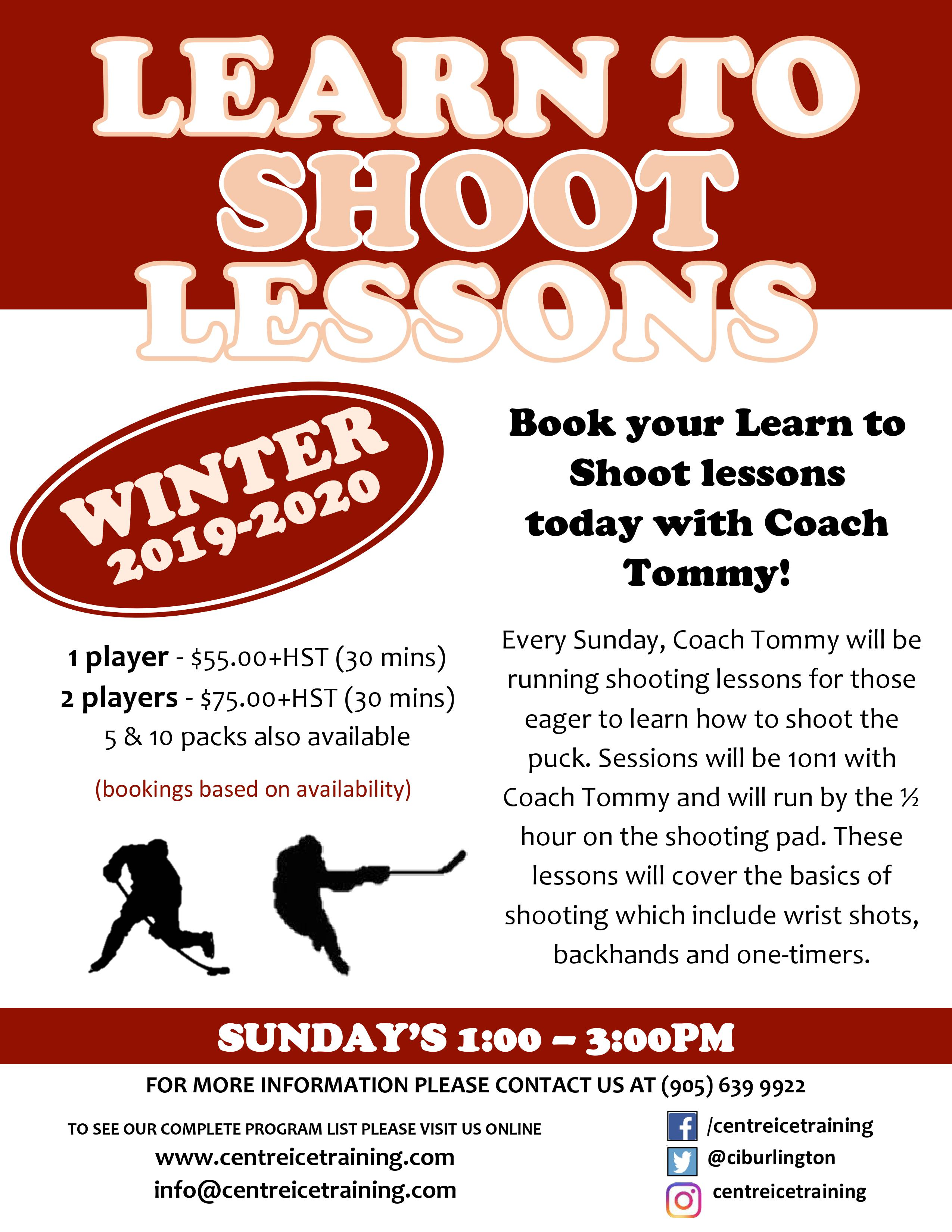 Learn to Shoot Lessons